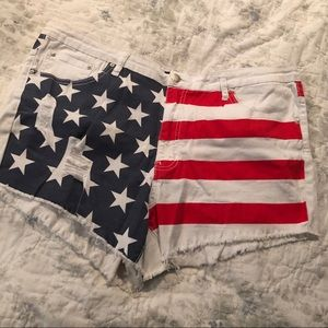 Plus Size American flag shorts